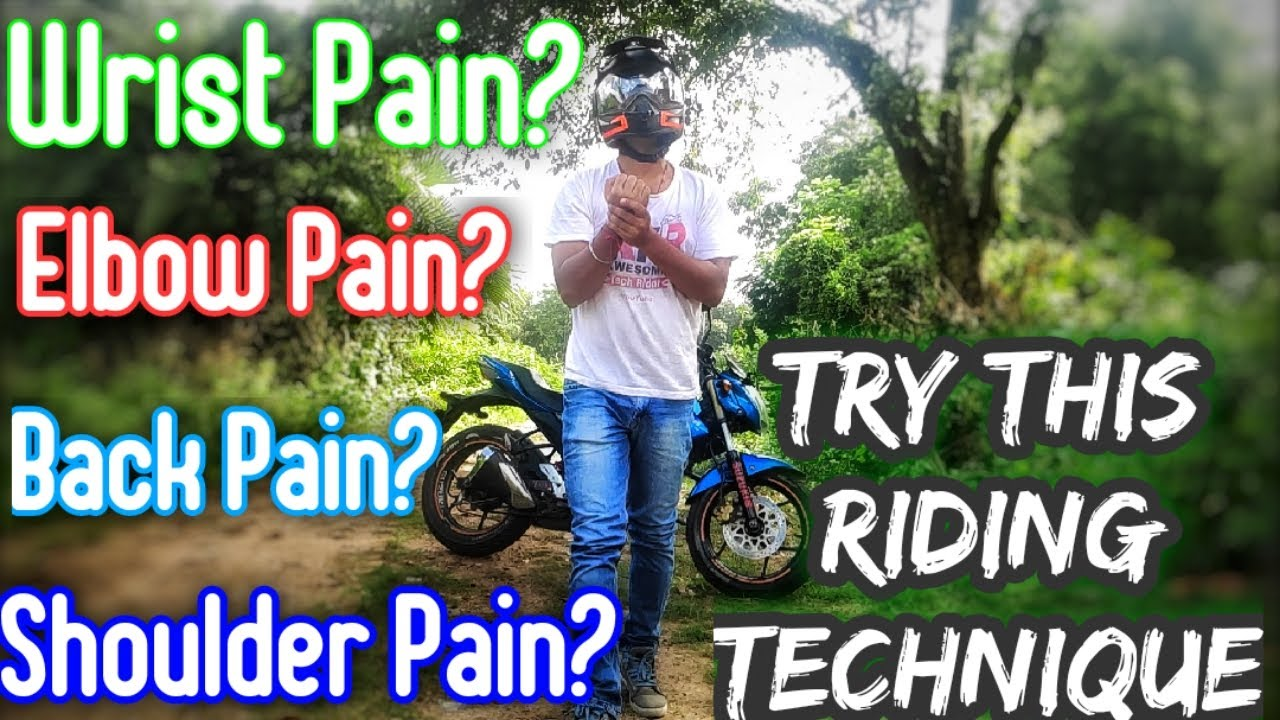 Avoid pain while riding motorcycle