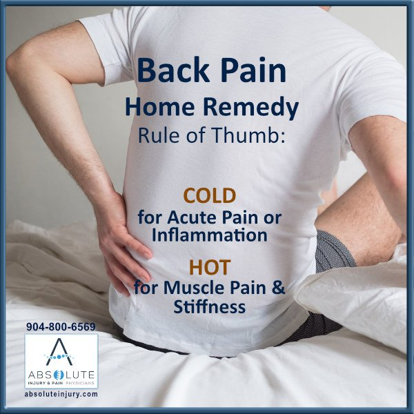 Back Pain Home Remedy: Hot or Cold?