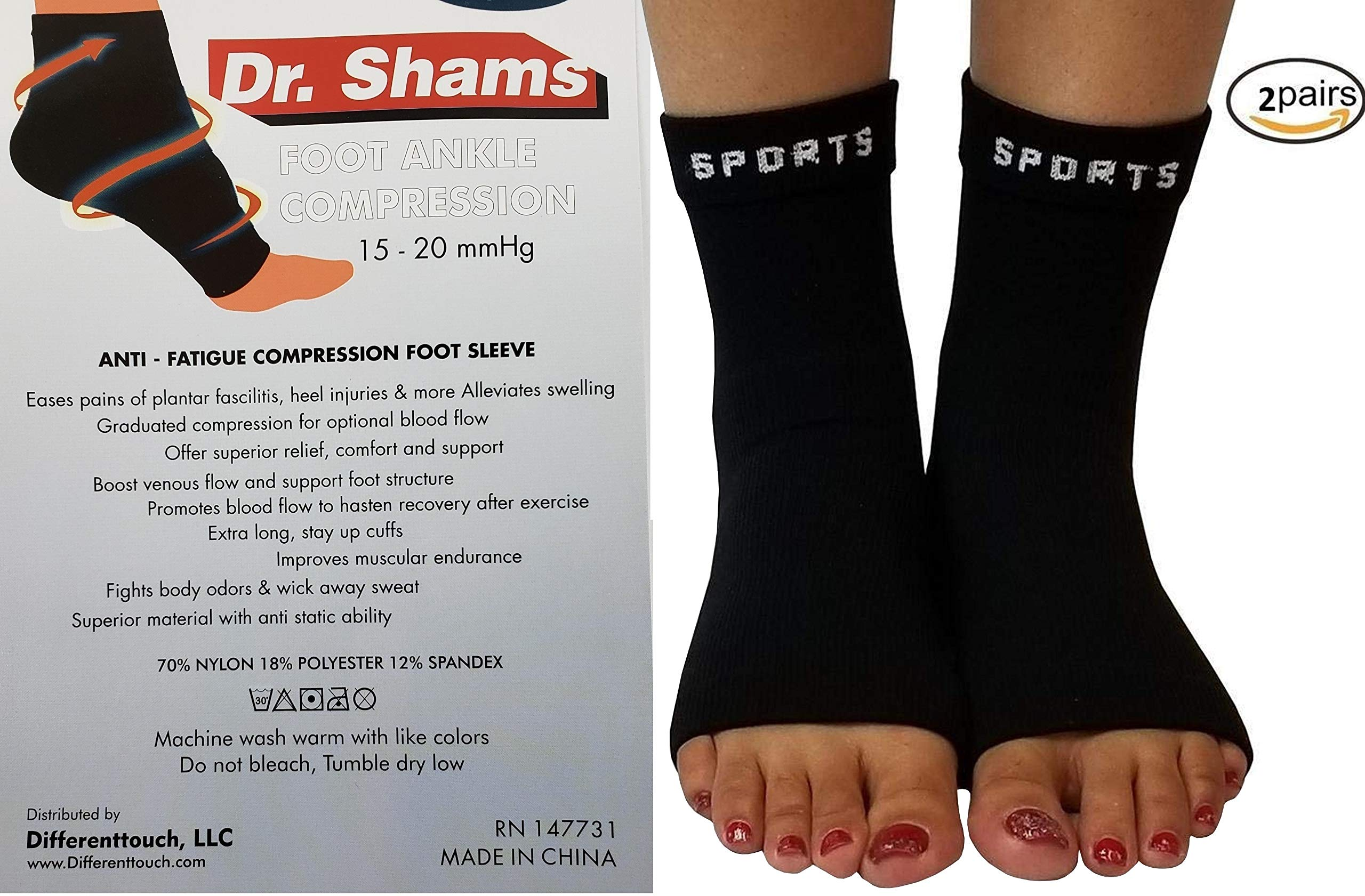 Compression Foot Ankle Sock Relieves Heel Pain Ankle ...