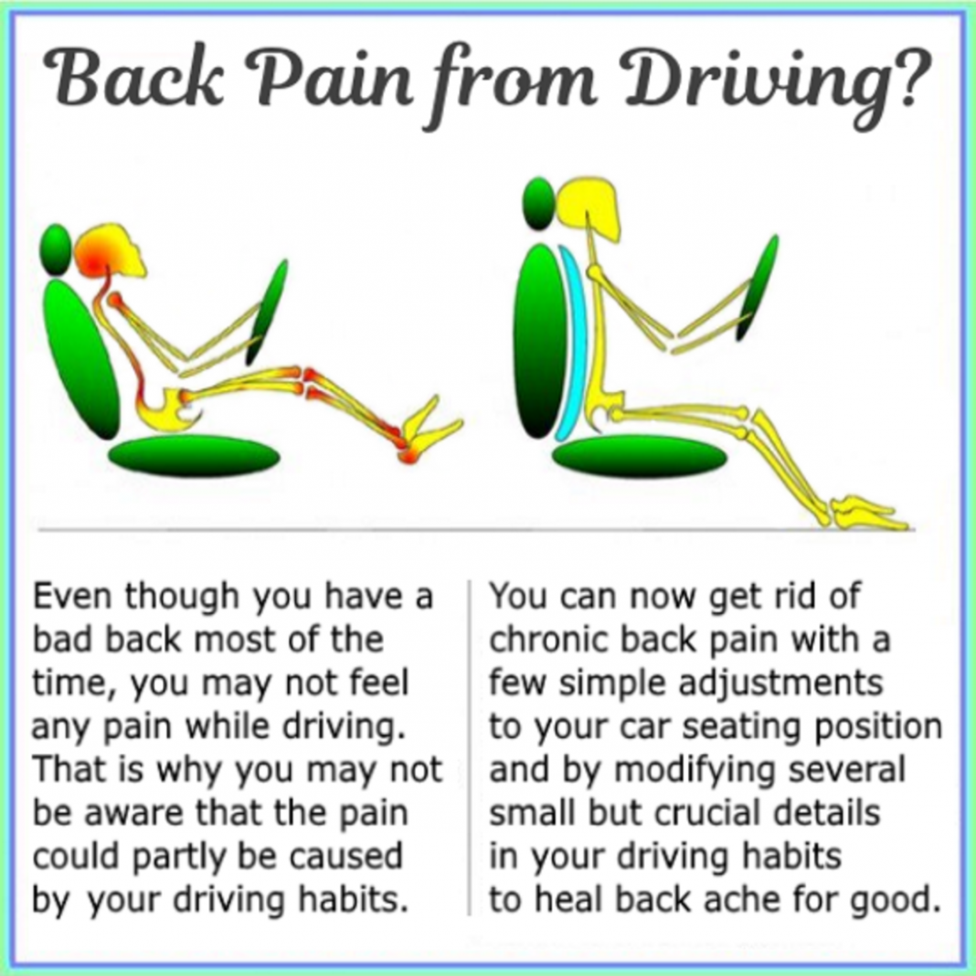 cure and prevent back and neck pain from driving plus