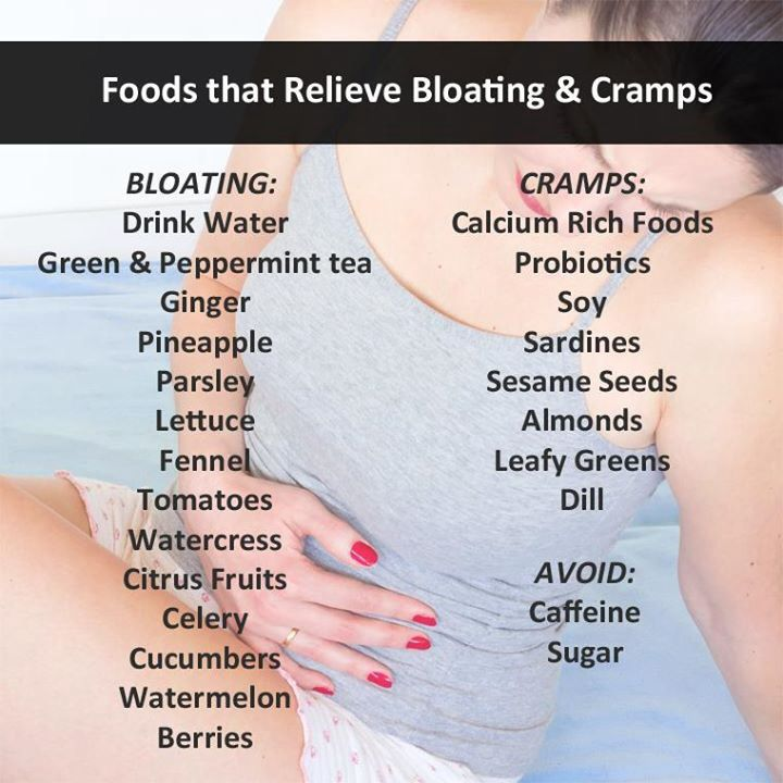 Foods that help with bloating & cramping