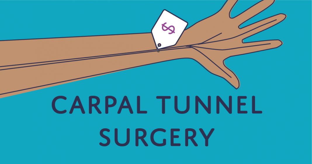 how much does carpal tunnel surgery cost
