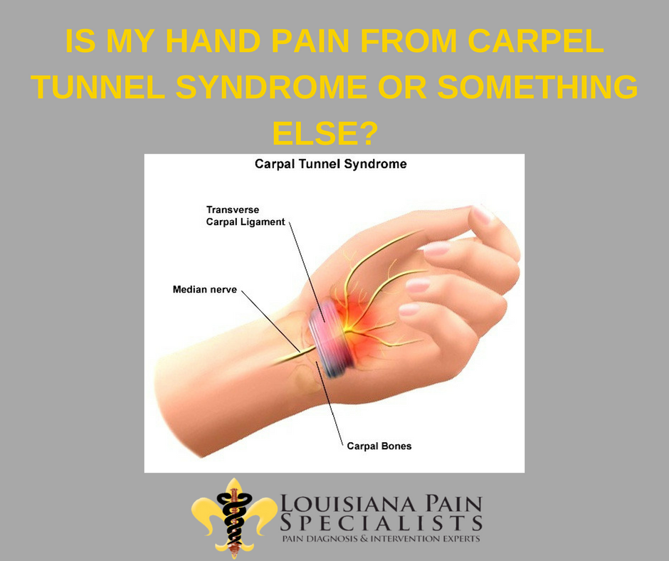 Is my hand pain from carpal tunnel syndrome or something ...