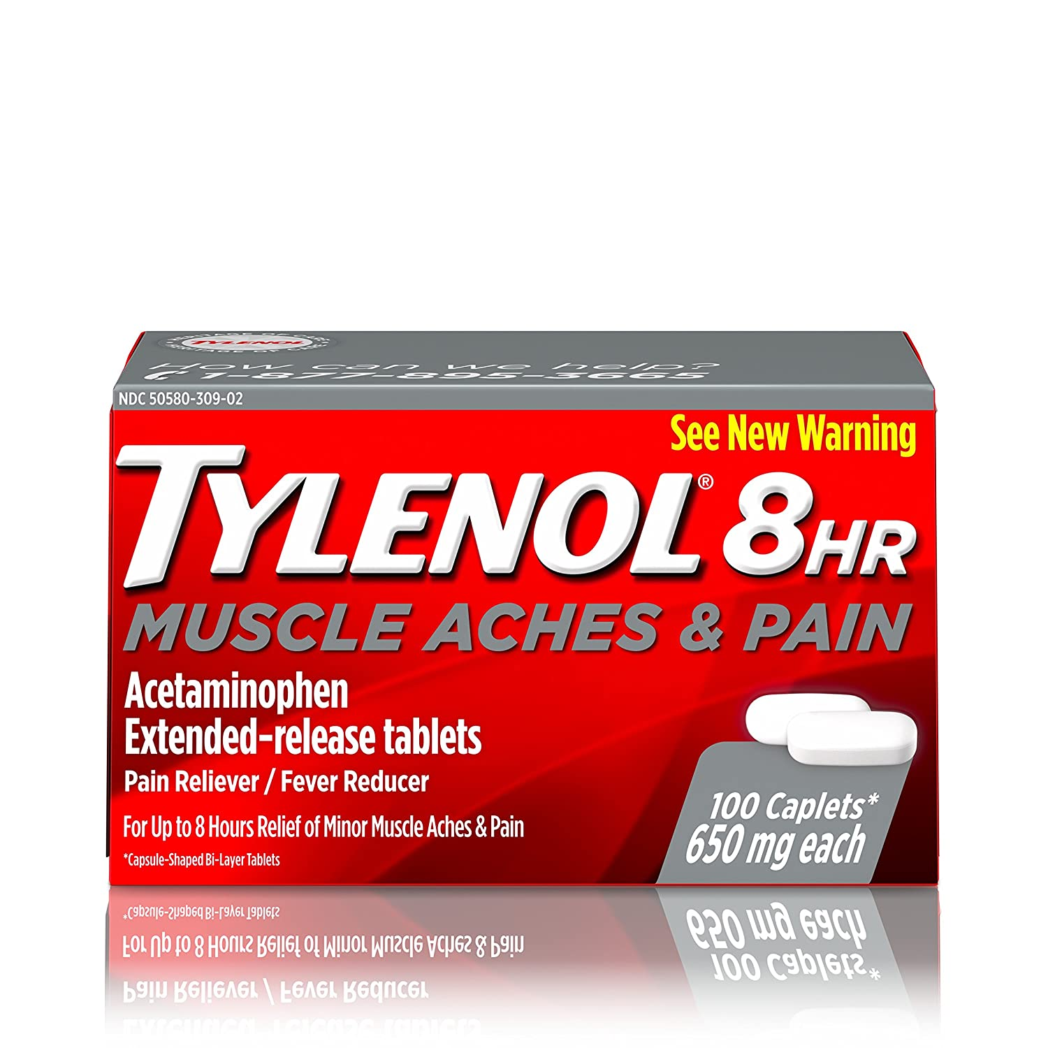 Tylenol 8 HR Muscle Aches &  Pain, Pain Relief from and 650 ...