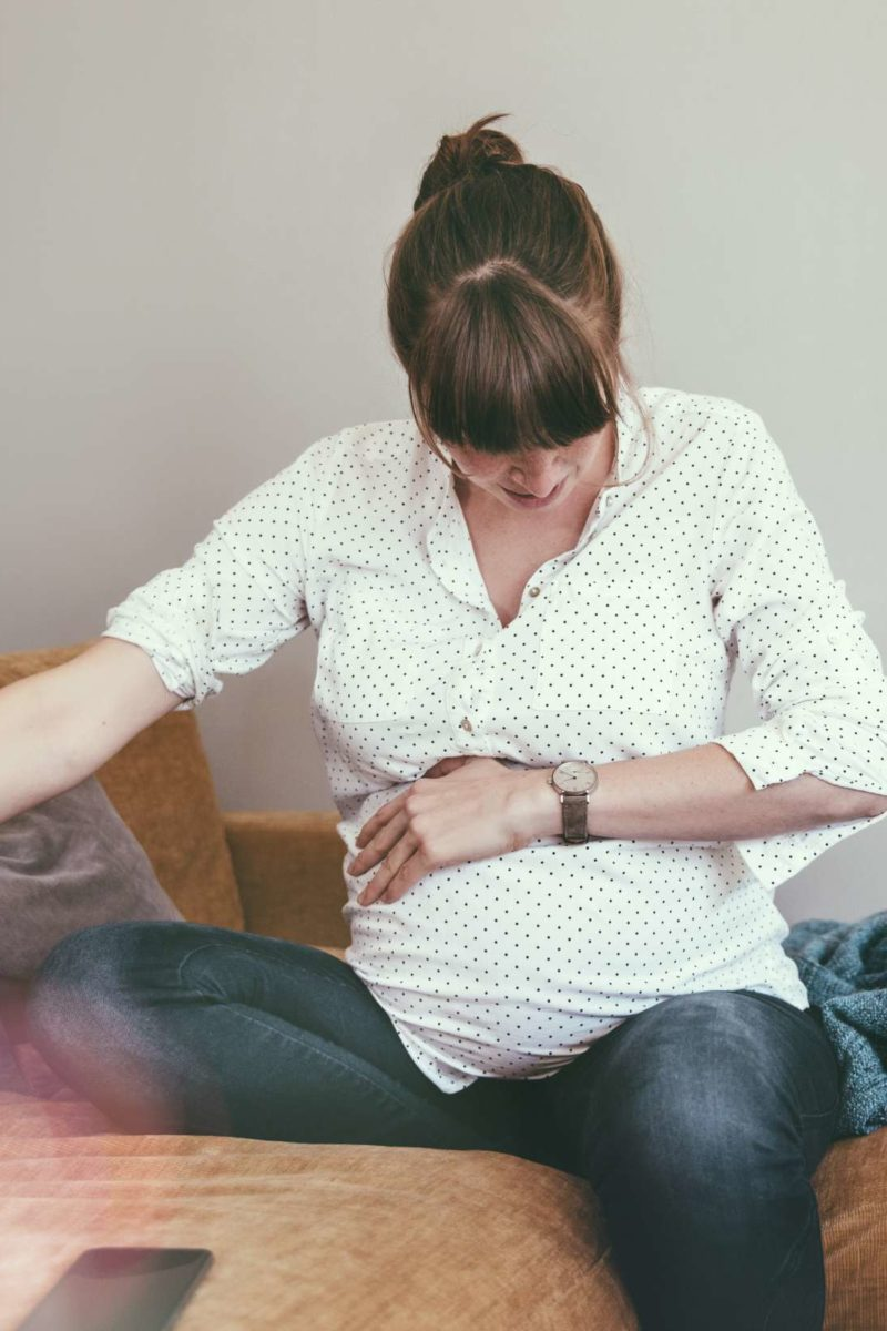 Upper stomach pain during pregnancy: Third trimester