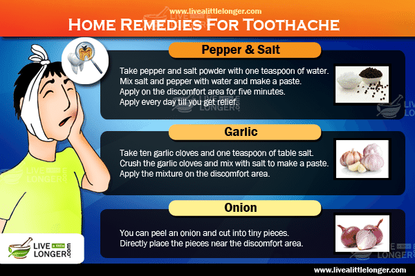 What is the home remedy for tooth decay?